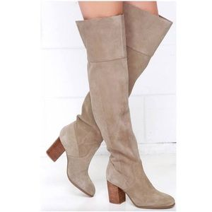Jessica Simpson Over The Knee Suede Boots Like New
